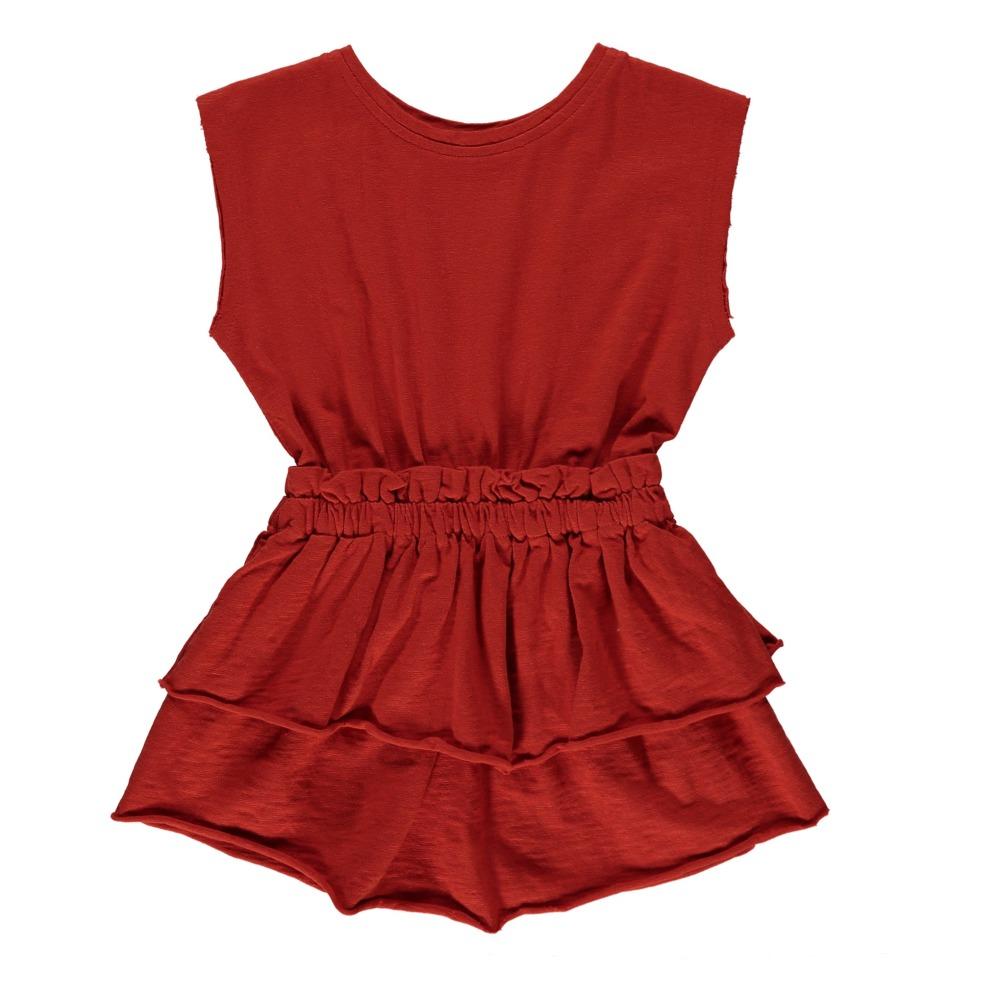 Kleid aus Bio-Jersey Diane Rot Ketiketa Mode Kind