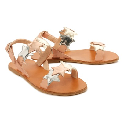 Manuela de Juan  Cara Star Mirror Leather Sandals-product