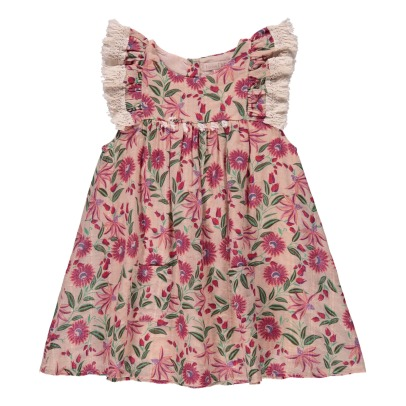 Louise Misha Acapulco Pompom Ruffled Floral Lurex Dress-product