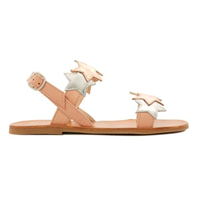 Manuela de Juan  Cara Star Mirror Leather Sandals-listing