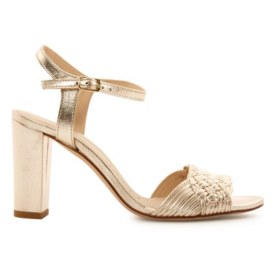 Petite Mendigote Saturne Leather Heeled Sandals-product