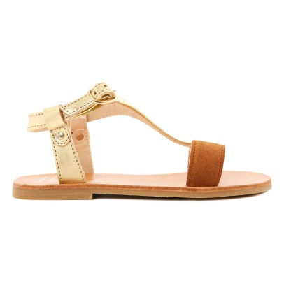 Manuela de Juan  Eolios Calf Leather and Suede Sandals-listing