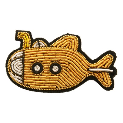 Macon & Lesquoy Embroidered Submarine Brooch-listing