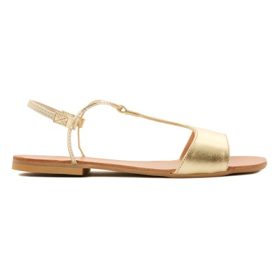 Manuela de Juan  Mikonos Calf Leather Sandals-listing