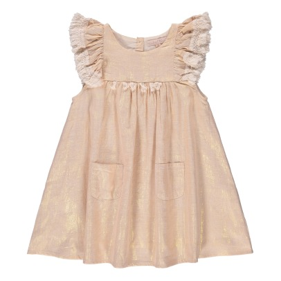 Louise Misha Acapulo Pompom Ruffled Iridescent Dress-product