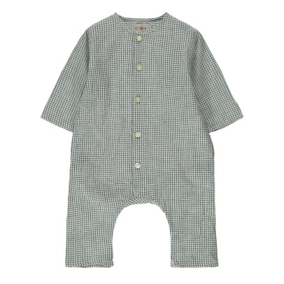 Ketiketa Kumar Small Check Organic Cotton Jumpsuit-listing