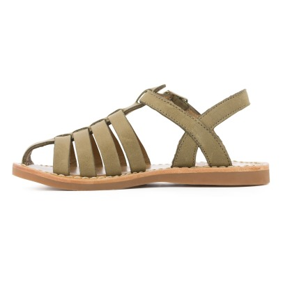 Pom d'Api Papy Stitch Freesia Leather Sandals-listing