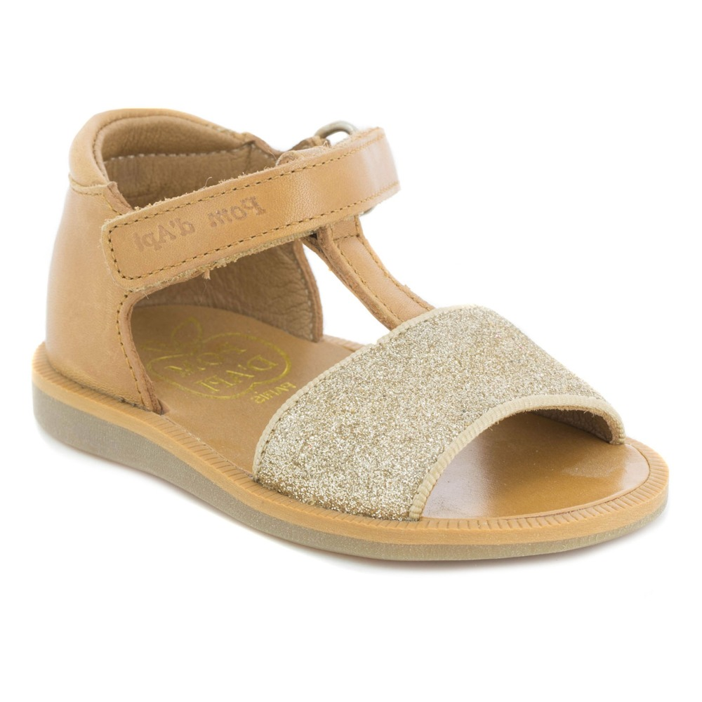 Sandales Cuir Poppy Tao Easy PailletéesPom dApi V7vU9