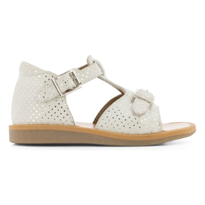 Pom d'Api Dot Buckle Poppy Suede Sandals-listing