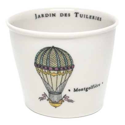 Alix D. Reynis Jardin des Tuileries Hot Air Balloon Porcelain Cup, Height 7.5cm - Marin Montagut-listing