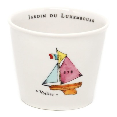 Alix D. Reynis Jardin du Luxembourg Sailing Boat Porcelain Cup, Height 7.5cm - Marin Montagut-listing