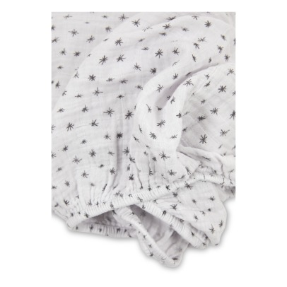 Moumout Scintille Cotton Muslin Fitted Sheet-listing