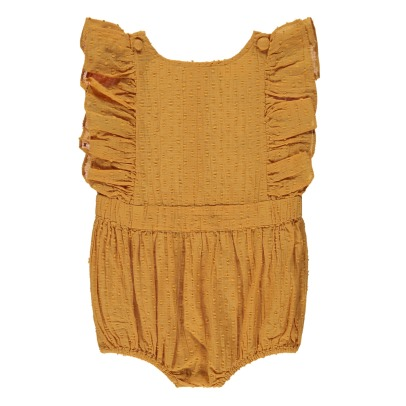 Louis Louise Marie Ruffled Dot Romper-listing