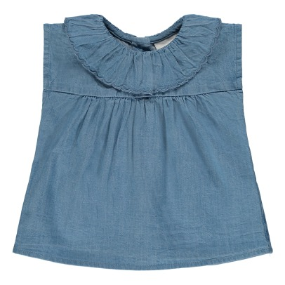 Louis Louise Blusa in chambray con colletto Perrine -listing
