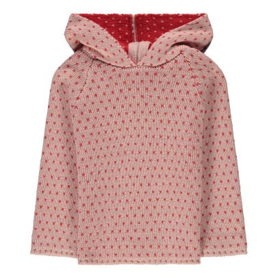 Oeuf NYC Organic Pima Cotton Peach Dot Hoodie-listing