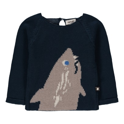 Oeuf NYC Organic Pima Cotton Shark Jumper-listing