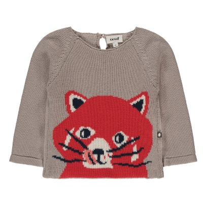Oeuf NYC Organic Pima Cotton Red Panda Jumper-listing