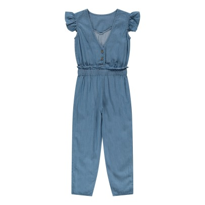 Louis Louise Margot Ruffled Chambray Jumpsuit-listing