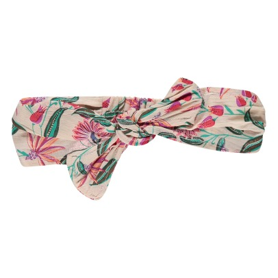 Louise Misha Jolie Lurex Floral Bow Headband-product