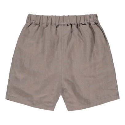 Chocolate Soup Linen Shorts with Pockets-listing