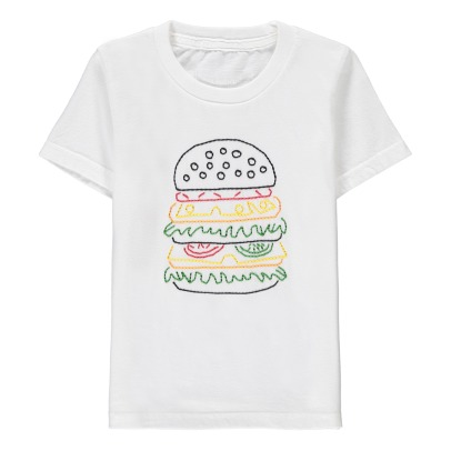 Chocolate Soup Exclusive Chocolate Soup x Smallable Hamburger Embroidered T-Shirt-listing