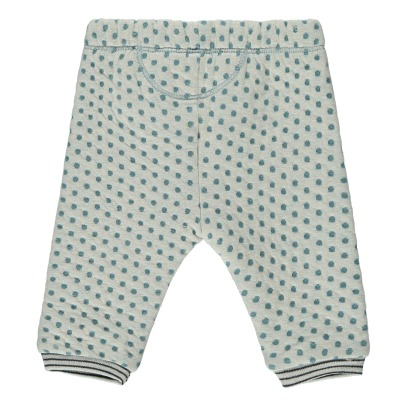 Kidscase Olive Organic Cotton Dot Fleece Harem Trousers-listing