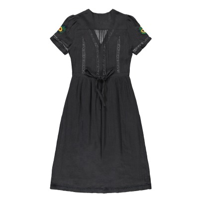 Leon & Harper Rivage Floral Embroidered Buttoned Dress-listing