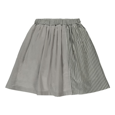 ARCH & LINE Striped Two-Tone Skirt-listing