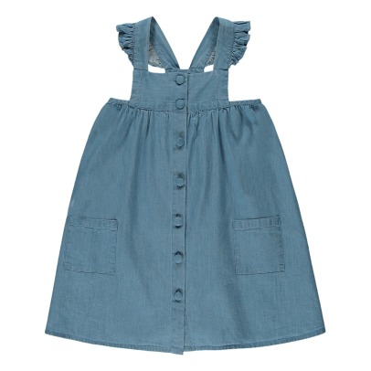 Louis Louise Sidonie Chambray Buttoned Dress-listing