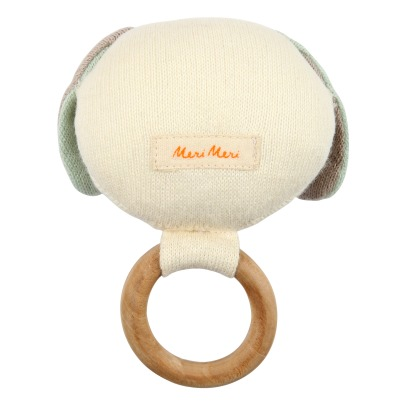 Meri Meri Organic Cotton Dog Rattle-listing