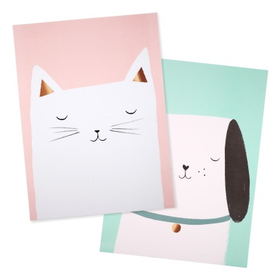Meri Meri Cat and Dog Posters - Set of 2-listing