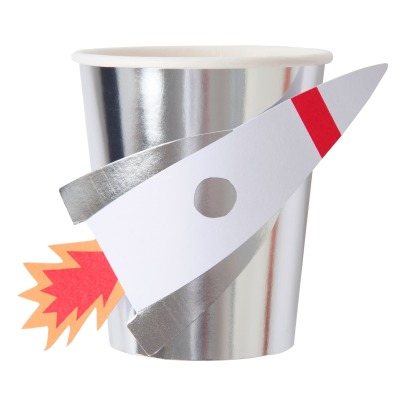 Meri Meri Space Rocket Paper Cups - Set of 8-listing