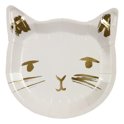 Meri Meri Cat Paper Plates - Set of 8-listing