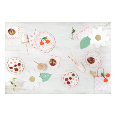 Meri Meri Cherries Paper Plates - Set of 12-listing