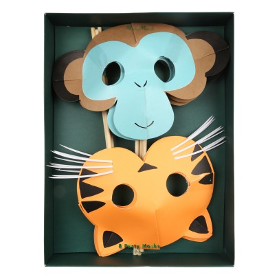 Meri Meri Masques en cartons Jungle - Set de 8-listing