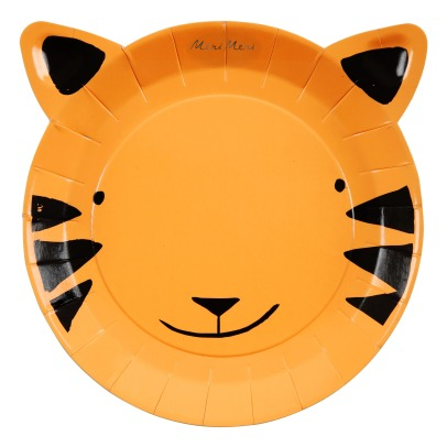 Meri Meri Tiger Paper Plates - Set of 12-listing