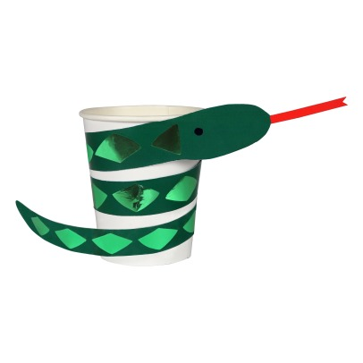 Meri Meri Gobelets en carton Serpent - Set de 8-product