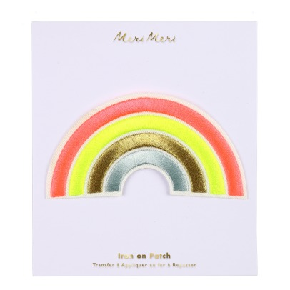 Meri Meri Iron-on Embroidered Rainbow Patch-listing