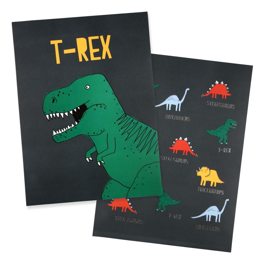 Affiches dinosaures - Set de 2-product