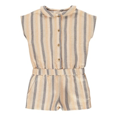 Louis Louise Albertine Lurex Striped Playsuit-listing
