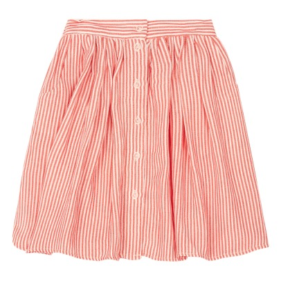 Morley Haley Striped Buttoned Maxi Skirt-listing
