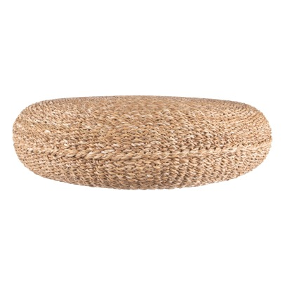 Present Time Seagrass Round Pouffe-listing
