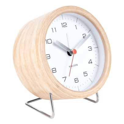Present Time Wooden Alarm Clock-listing