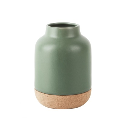 Present Time Ceramic and Cork Vase-listing