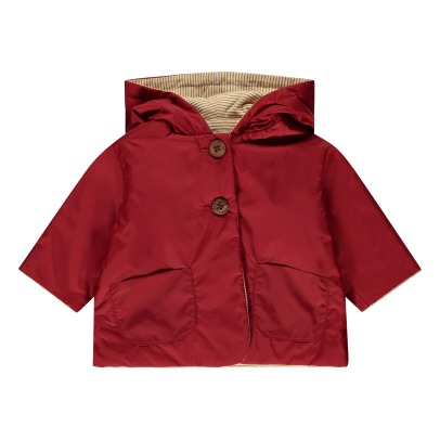 De Cavana Wood Button Reversible Jacket-listing