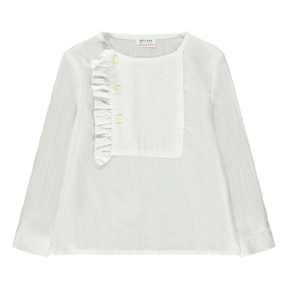Morley Helen Ruffled Buttoned Collar Blouse-listing