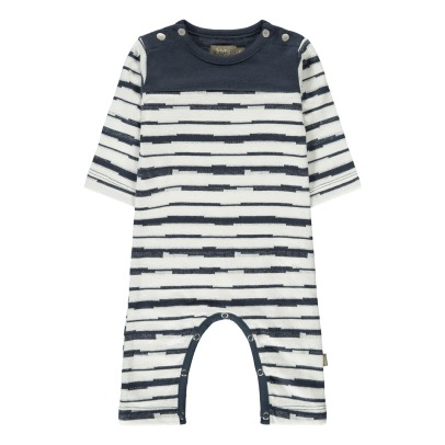 Kidscase Syd Organic Cotton Striped Jumpsuit-listing