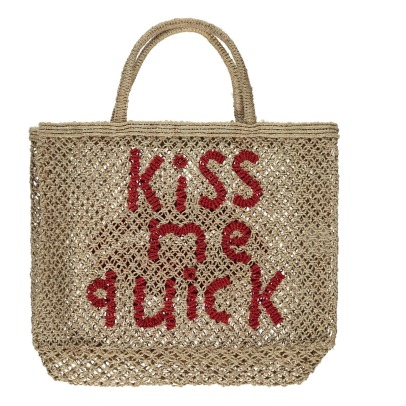 The Jacksons Kiss Me Quick Small Jute Shopper-listing