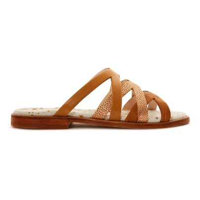 Craie Trio Cross Leather Sandals-listing
