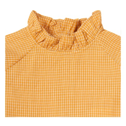Caramel Urmia Checked Blouse-listing